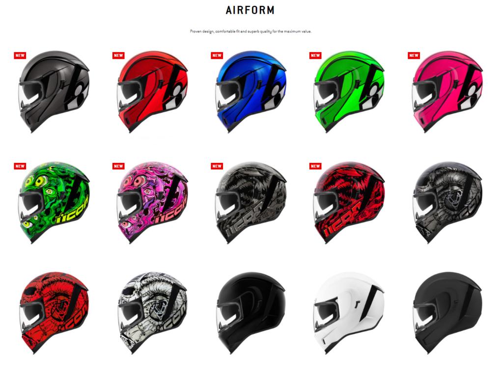 Airform motorcycle helmet